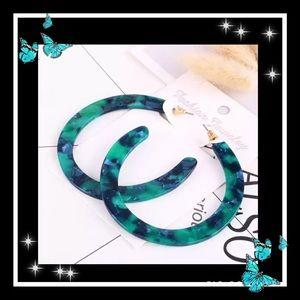 Jewelry - Beautiful acrylic hoop earrings